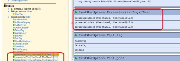 parameterized test