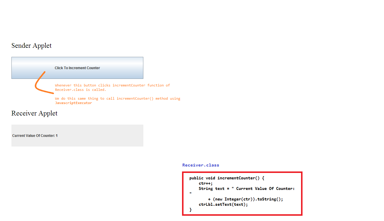 How to do JavaScript and Applet interaction using Selenium