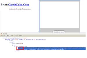 Example 2 - Embed Tag ActionscriptJavascriptCommunication.
