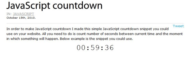 Example - get JavaScript countdown using selenium webdriver