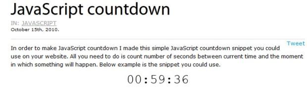 Example - get JavaScript countdown using selenium webdriver