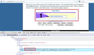 Firefox firebug - Get Object ID for permadi - flashjscommand app