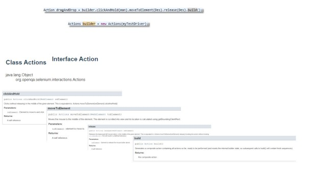 How to perform Drag and Drop using selenium webdriver action builder?