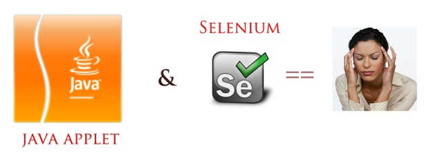 java applet and selenium - a real headache