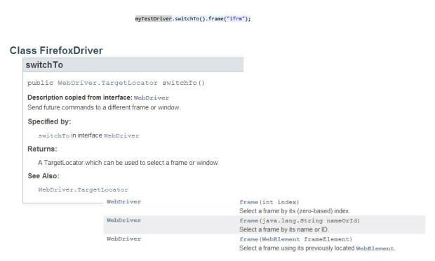 myTestDriver.switchTo().frame
