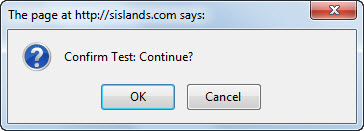 The confirm dialog box returns a Boolean value based on the user's selection.