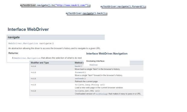 WebDriver.Navigation